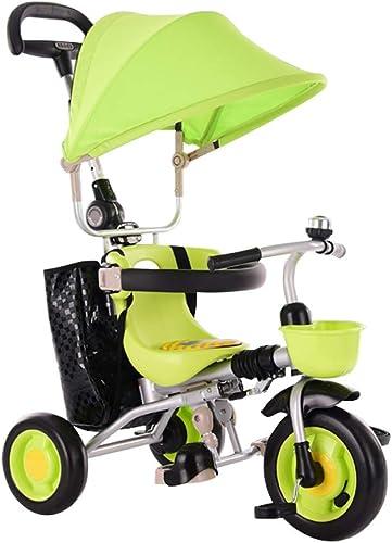 el mejor servicio post-venta GYF Triciclos para Niños,Fácil De De De Montar Y Ajustar Triciclo Evolutivo Bicicletas para Niños Triciclos Bebes Evolutivo rojo verde marrón ( Color   verde )  Ven a elegir tu propio estilo deportivo.