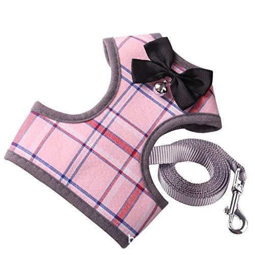 FSSSMSS Pet tractie touw pak met Bell kat en hond jurk, Licht roze, s