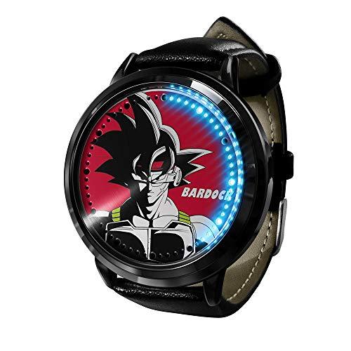 Anime Dragon Ball Z Goku Super Saiyan Series Reloj táctil LED Relojes novedosos Relojes Deportivos Reloj Personalizado Relojes Unisex Regalo de cumpleaños Edición de coleccionista-F