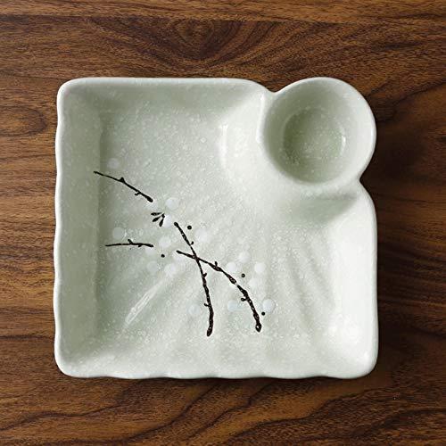 Placa de masa hervida con placa de vinagre, placa de cerámica, platos para el hogar, vajilla, placa de rejilla (Color : 3)