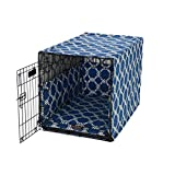 image of dog crate cover set in blue