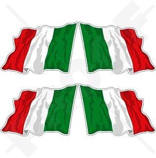 ITALIEN Italienische Wehende Flagge ITALIEN 50mm Auto &a