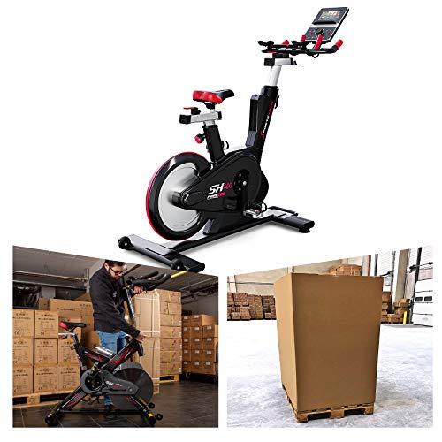 Sportstech Elite Indoor Cycle Bike inkl. VORMONTAGE | Deutsches Qualitätsunternehmen | Video Events & Multiplayer App | Magnetbremssystem + 26kg Masse | Speedbike Ergometer + Sportlenker | SX600