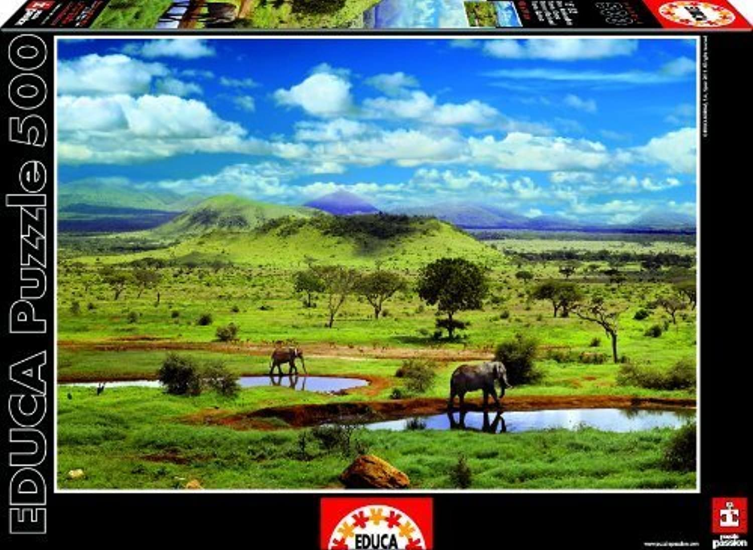 Educa Tsavo National Park, Kenya 500 piece puzzle by Educa