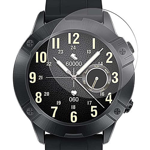 Vaxson 3 Unidades Protector de Pantalla de Cristal Templado, compatible con CUBOT N1 1.28' Smart Watch smartwatch, 9H Film Guard Película Protectora [No Carcasa Case ]
