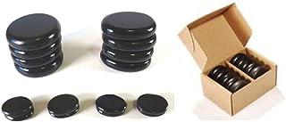 Lot de 16 pierres chaudes de basalte - Kit de massage manuel