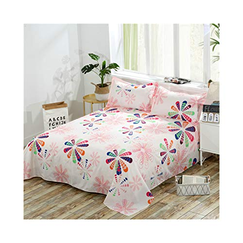 AMDXD Funda de cama de poliéster, multicolor, con forma de flor, transpirable, hipoalergénica (1 sábana de 200 x 230 cm)