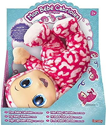 My Baby Tumbles soft doll, gambols & tumbles over, cuddly, pre-school toy - as seen on TV! from Lansay