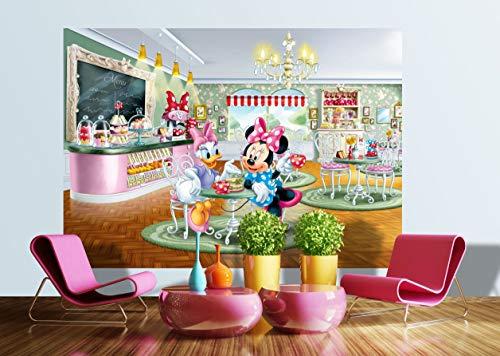 AG Design FTDs1926 Minnie Daisy Disney, Papier Fototapete Kinderzimmer - 255x180 cm - 2 teile, Papier, multicolor, 0,1 x 255 x 180 cm