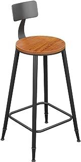 XUEYAN Tabouret Bar  Assise Bois Cadre Noirs  Design Dossier Repose-Pieds  Cuisine Maison  Taille 99CM