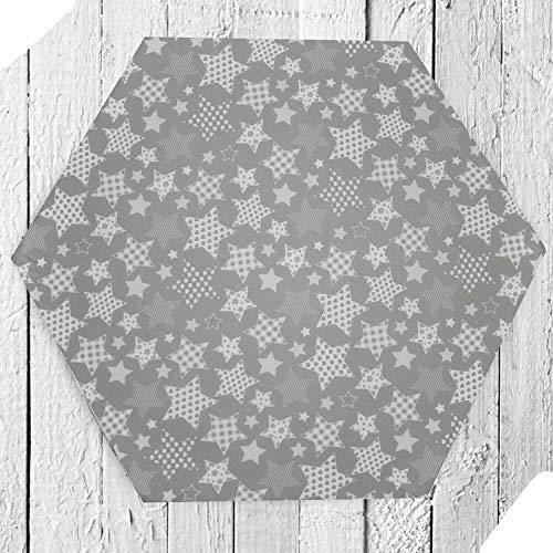 Rundum Sternbild Spannbettlaken für 6-eck Laufgitter, Laken, Neu Baumwolle Des. 23
