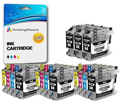 15 XL Compatibles LC223 Cartouches d'encre pour Brother DCP-J4120DW MFC-J4420DW MFC-J4620DW MFC-J480DW MFC-J5620DW MFC-J5720DW MFC-J680DW MFC-J880DW - Noir/Cyan/Magenta/Jaune, Grande Capacité