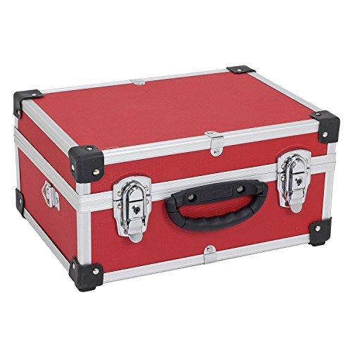 PRM10106R Alukoffer Aluminiumkiste Werkzeugkiste Lagerbox Leergewicht 2600g VARO Farbe rot