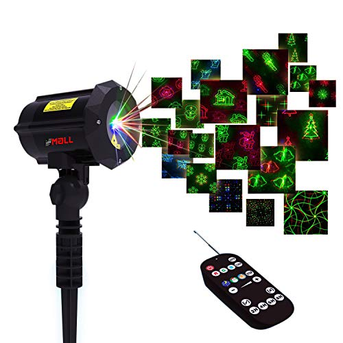 Motion Pattern Firefly 3 Models in 1 Continuous 18 Patterns LEDMALL RGB Outdoor Laser Garden and Christmas Lights with RF Remote Control and Security kit