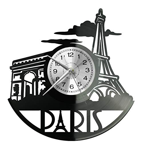 EVEVEVO - Reloj de pared con diseño de caballo de Francia