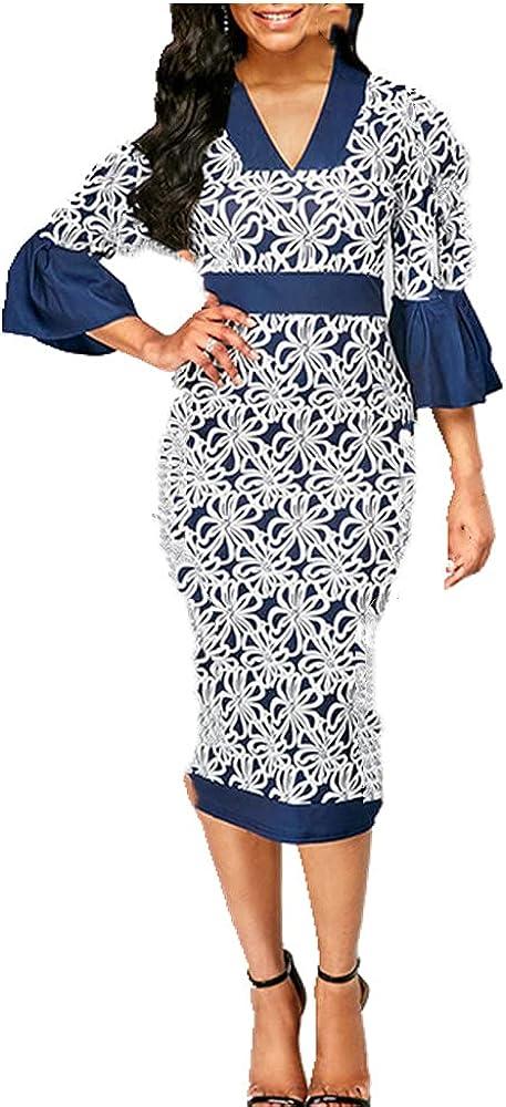 NP Hook Flower Woman Dress Spring Casual Slim Pencil Bodycon Dress Women Long