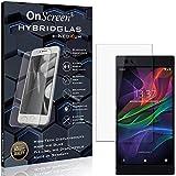 OnScreen Schutzfolie Panzerglas kompatibel mit Razer Phone 2 Panzerfolie & Glas = biegsames HYBRIDGLAS, Bildschirmschutz, splitterfrei, Anti-Fingerprint KLAR - HD-Clear