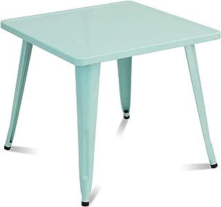 Costzon Kids Steel Table for Indoor/Outdoor Use, Preschool, Bedroom, Playroom, Activity Table for Toddlers Children Boys & Girls(Mint Green, Table)