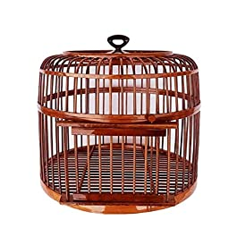 DHTOMC Birdcage Bird Cage Handmade Indoor and Outdoor Ornamental Bird Cage Pet Supplies Diameter 39 cm Aviary (Color : Natural) Xping