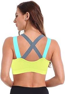 NJTSXLM 1 Pcs Woman Yoga Bra SportsTop Push Up Running Vest T-Shirt Gym Shirt Top Fitness Bh Sportswear Women Brassiere Ac...