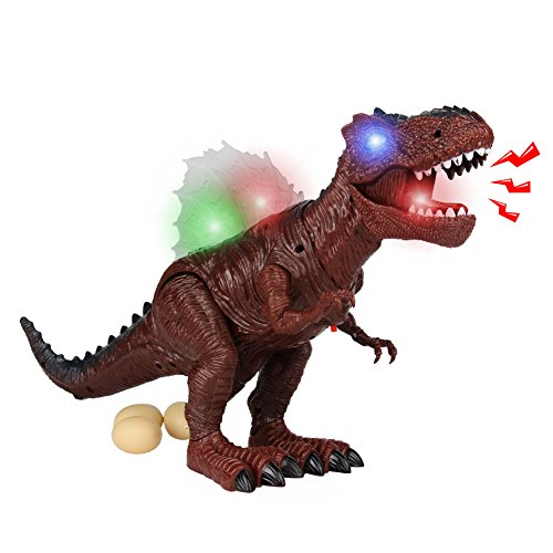 yoptote Dinosaurier Ei Spielzeug Tyrannosaurus Rex Walking Dinosaurier Spielzeug Brüllender Dinosaurier mit Licht und Sound für Kinder über 3 Jahren Kinder (Mehrweg)
