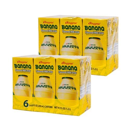 Super Special SALE held Binggrae Banana Milk 12 Max 68% OFF 6.8 Oz. Pack Fl