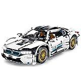 LOSGO Coche de técnica deportivo para BMW I8, 1270 piezas de construcción de coche, compatible con Lego Technic