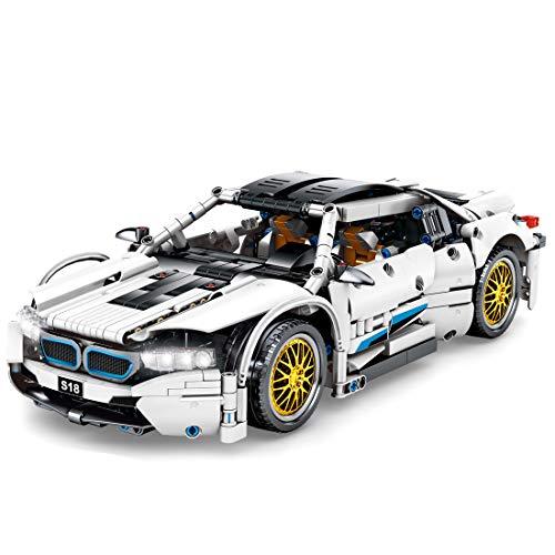 LOSGO Technik Sportwagen für BMW I8, 1270 Teile Technic Auto Bausteine Auto Modell, Kompatibel mit Lego Technic