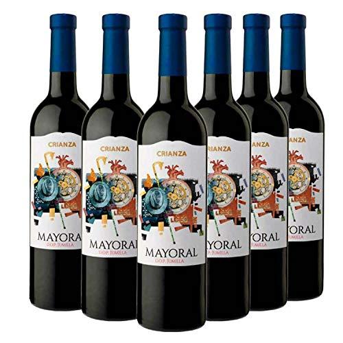 Mayoral Crianza - Vino Tinto D.O Jumilla, Caja de 6 Botellas x 750 ml