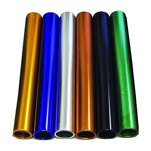 Amber Athletic Gear Unisex Adult Relay Baton Alum Set of 6, Multicoloured, Junior