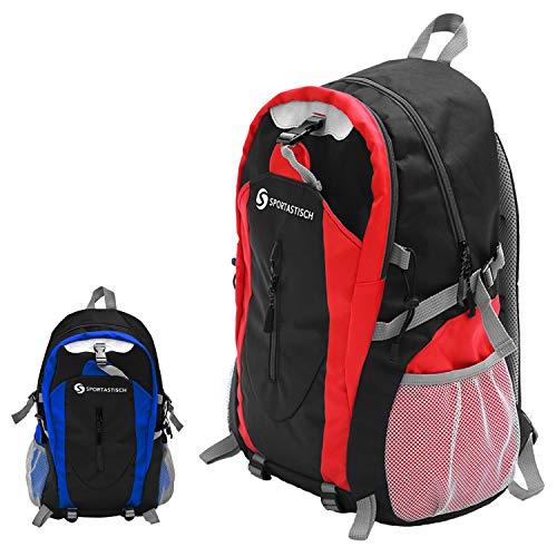"""Sportastisch Rucksack """"Sporty Backpack"""" mit Laptop Fach 15.6 Zoll, Wasserabweisend Nylon Daypack Tagesrucksack 30 Liter für Uni Reisen Freizeit Job Outdoor, biszu 3 Jahre Garantie & Auszeichnung*"""