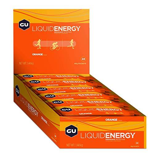 GU Liquid Energy Gel   sabor naranja   Ideal para corredores   Carbohidratos complejos   24 sobres * 60g  
