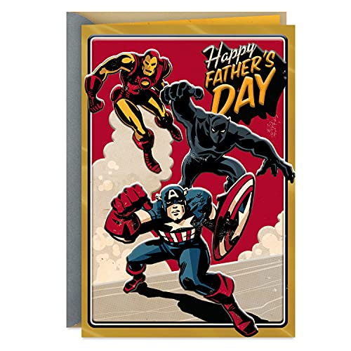 Hallmark Fathers Day Card (Vintage Avengers) (399FFW3005)