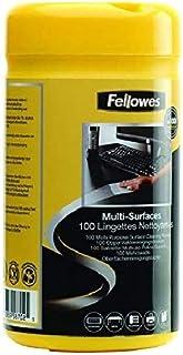 Fellowes 9971509 Lingettes nettoyantes pour le Bureau, pour les claviers, souris et accessoires, sans alcool, biodégradabl...