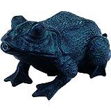 Heissner Teichfigur Speier Frosch Dekor Bronze