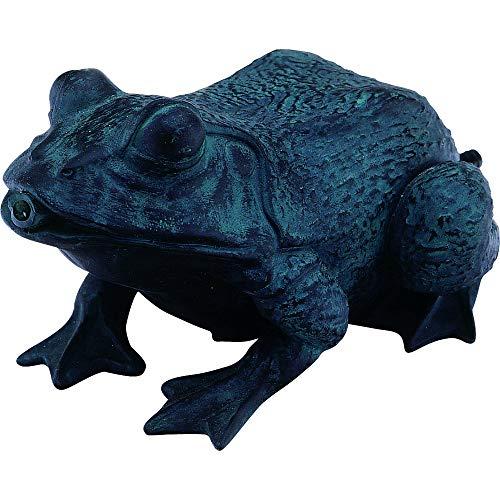 Teichfigur Speier Frosch Dekor Bronze
