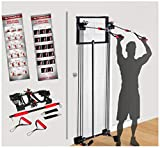 200LB Tower Strength Training Door Gym Full Body Workouts Fitness Exercise Exercise &...