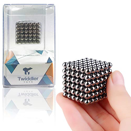 Twiddler Toys Magnetic Balls 5mm 216pcs with Storage Bag – Satisfying Fidget Magnets Desk Toy for Adults