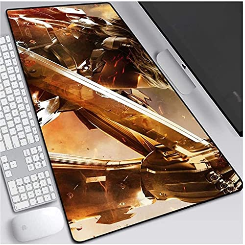 Juego extendido almohadilla de metal engranaje de metal Mousepad Sólido Teclado grande Estera del ratón para computadora ORDENADOR PERSONAL Mesa doméstica del escritorio Mouse Pad (color: F, Tamaño: 9