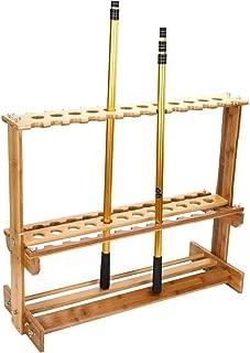 Jitnetiy Bamboo Fishing Rod Stand Rack Vertical Storage Organizer Rod Display Holder for All Types