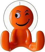 Wandhaak met zuignap voor kinderen, handdoekhouder voor kinderen, pop kleuren (oranje)