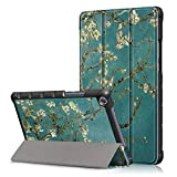 ProElite Ultra Sleek Smart Flip Case Cover for Honor Pad 5 8' (Flowers)
