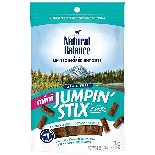 Natural Balance L.I.D. Limited Ingredient Diets Mini Jumpin' Stix Dog Treats, Chicken & Sweet Potato Formula, 4 Ounces, Grain Free
