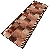 Alfombra de pasillo Icaria óxido 16804Alfombra de pasillo Puente Piso Metro en 44tamaños, 3colores, maletero y 67cm de ancho, poliamida, rojizo, 67x220 cm