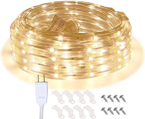 LED Rope Lights 16 4ft Waterproof Connectable Strip Lighting 3000K Soft White Indoor Outdoor product image