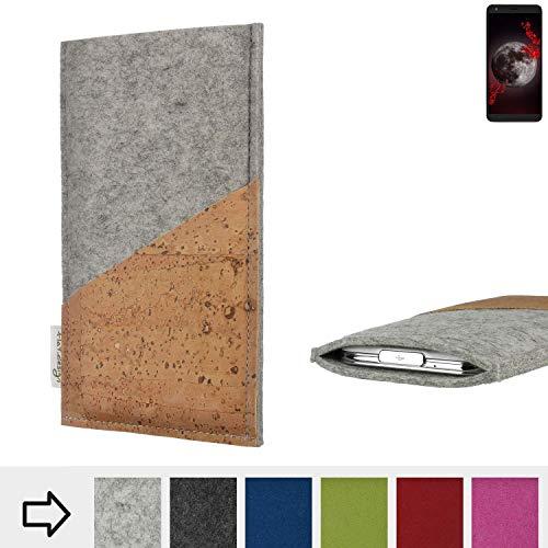 flat.design Handy Hülle Evora kompatibel mit Sharp Aquos B10 Schutz Tasche Kartenfach Kork passexakt handgefertigt fair