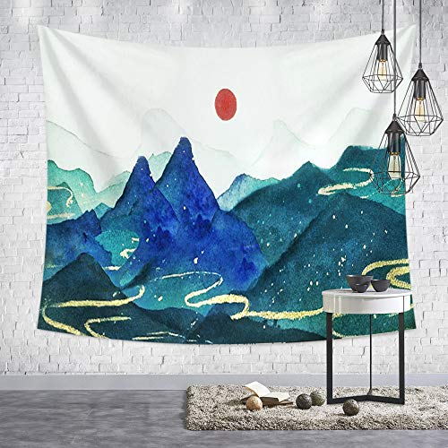 mmzki Ukiyo-e Giapponese Dipinto Appendere Panno Alba Gru Gru Coniglio Muro arazzo Decorazione Vintage Soggiorno Camera da Letto B2-16 250 * 150