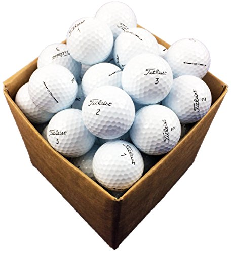 100 x Titleist V1 premium Pro golf balls-refinished, pearl/mint grade