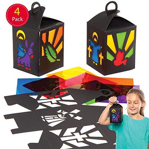 Baker Ross Karweek lantaarns knutselsets voor kinderen (4 stuks) creatieve sets om te knutselen met Pasen