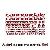 BYTT Pegatinas decorativas para bicicleta de montaña de Cannondale para accesorios de decoración de Mtb Racing DIY pegatinas marco de coche de carretera (nombre de color: rojo)